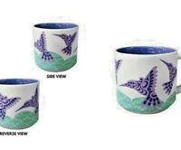 Native Home Ceramic Purple HUMMINGBIRD Coffee Tea Cup Mug 14 oz. - FREE SHIPPING