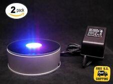 7 LED 3d Crystal Trophy Laser Rotating Electric Light Stand Base Display