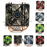 DC 12V 4 Pin CPU Cooling Fan For PC Computer 12 LED Quiet Desktop CPU Cooler