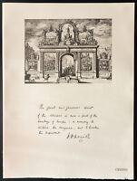 1926 - Litografia citazione Conte Oxford e Asquith. WW1