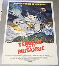 Affiche de cinéma : TERREUR SUR LE BRITTANIC de Richard LESTER