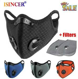 Cycling Protective Mouth-muffle Face Shield Haze Fog Mouth Cover With Filter NEW