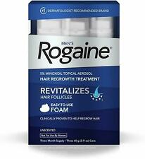 Rogaine Foam Hair Loss & Regrowth Treatment 5% Minoxidil - 1,2,3,6 Month Supply
