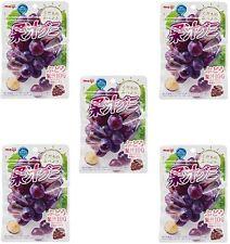 "JAPAN Meiji collagen juice gummy grape 1 bag ""51g ""x 5set  / Free Shipping!"