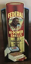 """Old Style Federal Cartridge Hi Power Shot Gun Shells 28"""" Metal Sign Dog Tin"""