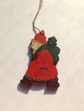 Vintage Hand Painted Santa Claus Christmas Ornament Small St. Nick Tree Decor