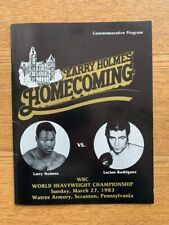 LARRY HOLMES vs LUCIEN RODRIGUEZ  - ONSITE PROGRAM