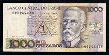 1000 Mil Cruzados With Revaluation Stamp, Series 1989, Pic #216a, Choice Unc!