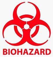 "2"" - 24"" BIOHAZARD WARNING Decal Vinyl Sticker Logo & Label Pick SIZE & COLOR"