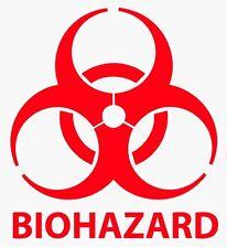 """2 """" - 24"""" Biohazard предупреждение этикетка виниловая наклейка логотип & Label выбрать размер и цвет"""