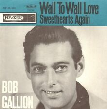 BOB GALLION - Wall To Wall Love ( RARE 1962 DUTCH PS / COVER ONLY / NO VINYL )