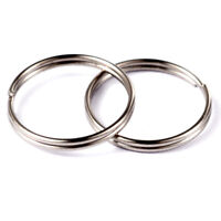 15mm Smooth Silver Plated Split Keyring Key Ring Keychain Findings Small