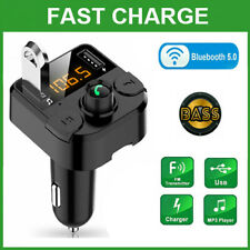 Bluetooth Car Wireless FM Transmitter MP3 Player Hands Free Radio 2 USB Charger