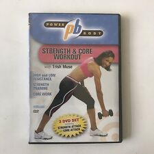 Power Body Strength & Core DVD Trish Muse Sculpting Workout Fitness Training 🏋️