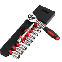 "12PCS Car Auto 1/4"" Drive Socket Ratchet Wrench Set Sleeve Repairing Hand Tool"
