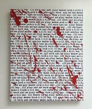 The Shining Painting Jack Nicholson Pop Art Horror Art Film Movie Blood Artwork