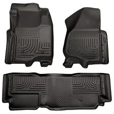 Husky Liners WeatherBeater Floor Mats - 3pc - 98721- Ford F250/F350/F450 - Black