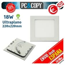 R1077 Downlight Panel LED 18W Techo Luz Blanca Cuadrada Empotrable Slim
