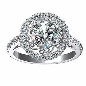 4.18 Ct D-g=Color Vvs1 WHITE SIMULATED DIAMOND 925 SILVER Engagement RING