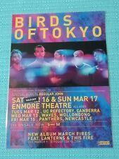 BIRDS OF TOKYO - 2013 AUSTRALIA TOUR POSTER - LAMINATED PROMOTIONAL POSTER