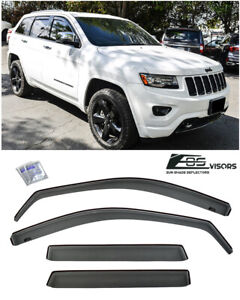 For 2011-Up Jeep Grand Cherokee IN-CHANNEL Smoke Tinted Side Vents Rain Guards