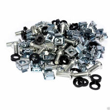 """50 of Each Pack Cage Rack Nuts, Bolts M6 & Washers 19"""" Mounts UK"""
