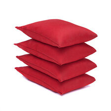 4 Pack of Red Sports Bean Bags Throwing Catching Play PE Garden Games Juggling