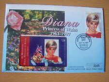 GUYANA,1997 DIANA,FDC WITH  $10,PHONE CARD,LIMITED EDITION,NICE.