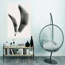 3D Black Leaves 347NA Wall Stickers Vinyl Wallpaper Murals Boris Draschoff Fay