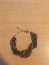 Ladies Brown / Copper Coloured Twisted Chunky Bracelet