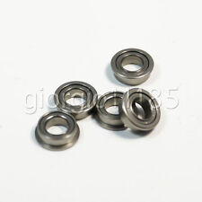 Us Stock 10 Pcs Mf83zz Double Shielded Flanged Ball Bearings 3mm X 8mm X 3mm