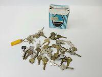 Vintage Key Lot 1 Lbs Various Skeleton, House, Clock Padlock,  And More LOOK