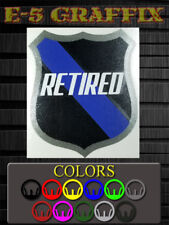 """Thin Blue Line Police Retired layered vinyl decal 3.5x3"""""""