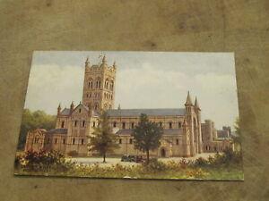 1950 fr Salmon Devon postcard - North West Face - Buckfast Abbey