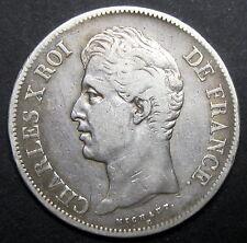 Ecu de 5 Francs - 1829  (Paris) -  CHARLES X - Argent