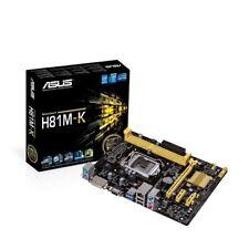 ASUS H81M-K Micro-ATX H81 Motherboard Intel LGA1150 4th Generation, USB 3.0
