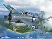 ART PRINT: F4F Wildcat On The Prowl - Print by Shepherd