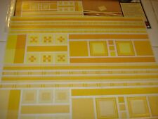 CREATIVE MEMORIES NEUTRAL JUMBO GREAT LENGTHS STICKERS YELLOW & CHAMOIS NIP