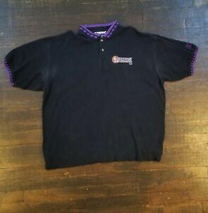 Vintage 90s RARE Champion Phoenix Suns Patterned Collared Polo Shirt Size XXL