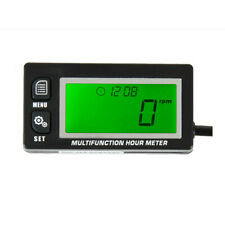 Multifunction Hour Meter Tachometer Voltmeter for Motocross Outboard Engine Boat