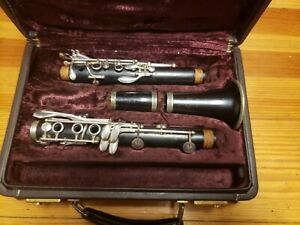1989 Buffet Crampon R13 Clarinet In Silver, Cork And Leather Resonator Pads