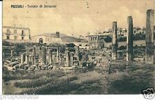cm 169 1910 POZZUOLI (Napoli) Tempio di Serapide -  viagg FP - Ed. Cotini Napoli