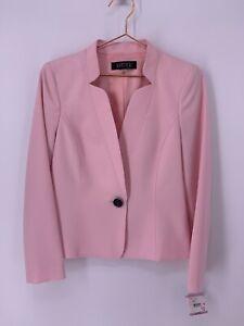 Kasper Women's Blazer Tutu Pink Size 6 Singe Button Jacket MSRP $129
