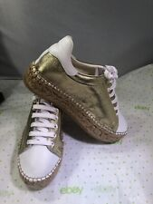 Vince Camuto NEW Gold/White Tied Women's Fashion Sneaker Size 9 Retail $159
