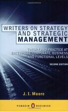 Writers on Strategy and Strategic Management: Theory and Practice at  Enterpr.