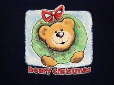 Beary Christmas Ornament Xmas Holiday cute baby bear cub T Shirt XL