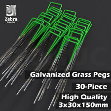 Grass Pegs Lawn Turf Weed Mat U Pins Stakes Steel Staples Anchor Lawn Sod 30pcs