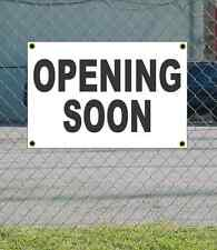 2x3 OPENING SOON Black & White Banner Sign NEW Discount Size & Price FREE SHIP