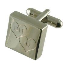 Love Heart Valentine Monogrammed Cufflinks In Message Box