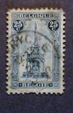 #2   BELGIUM   #123B, (18.5 X 28MM)  Rare - Used - F/VF